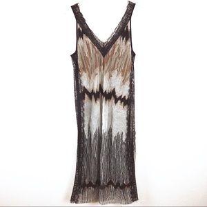 Zara semi sheer lace dress size S